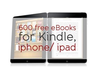 600 free books for kindle iphone ipad