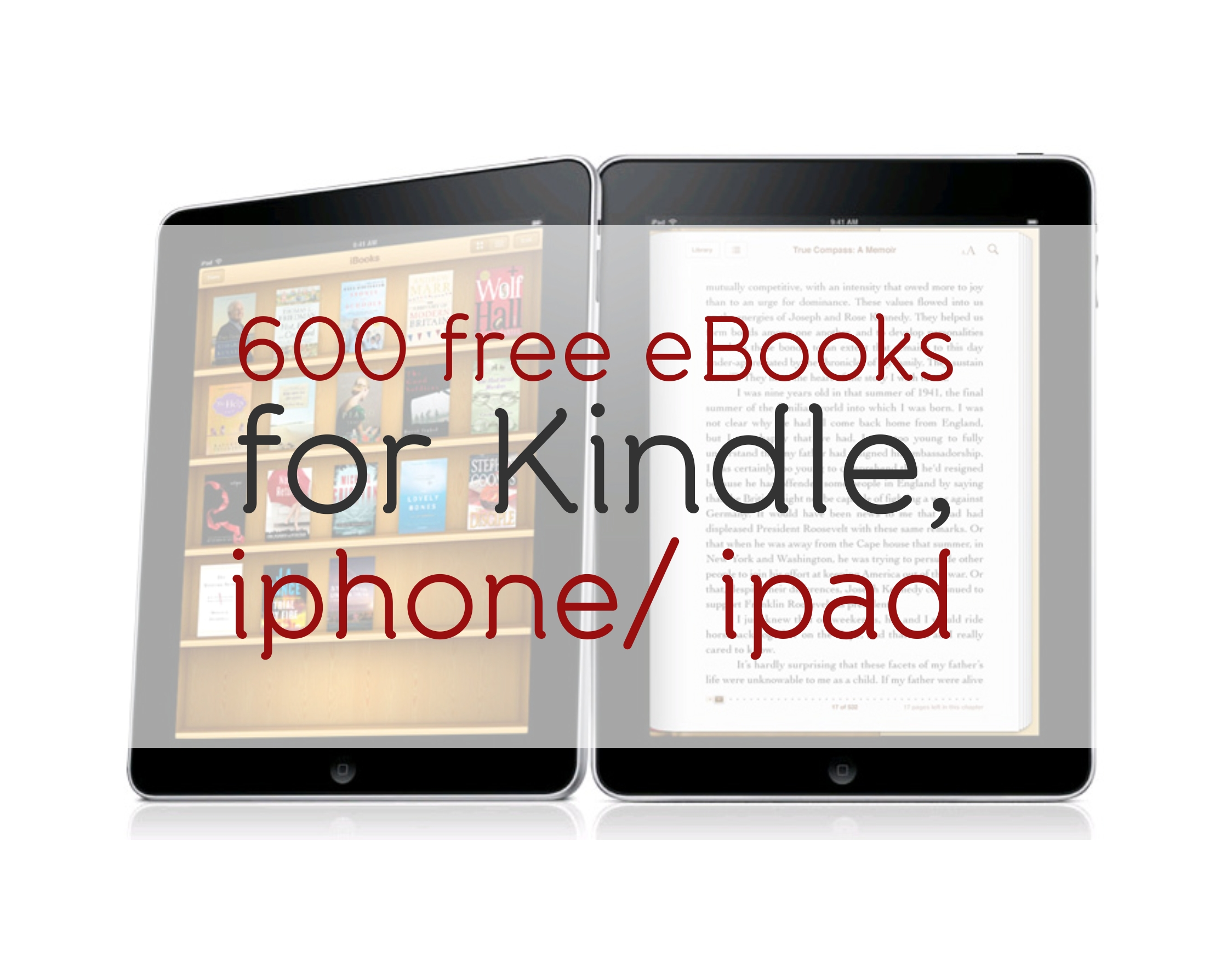 Free Books2 600 Free Books For Kindle Iphone Ipad  Self Descriptive Words For Resume