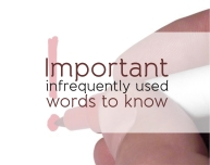 Important infrequently used words to know justenglish.me