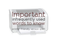 Important infrequently used words to know (pdf) justenglish.me
