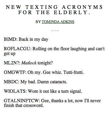 All the slang words for texting