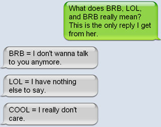 Lol omg and ily 60 of the dominating abbreviations for Rofl meaning in text